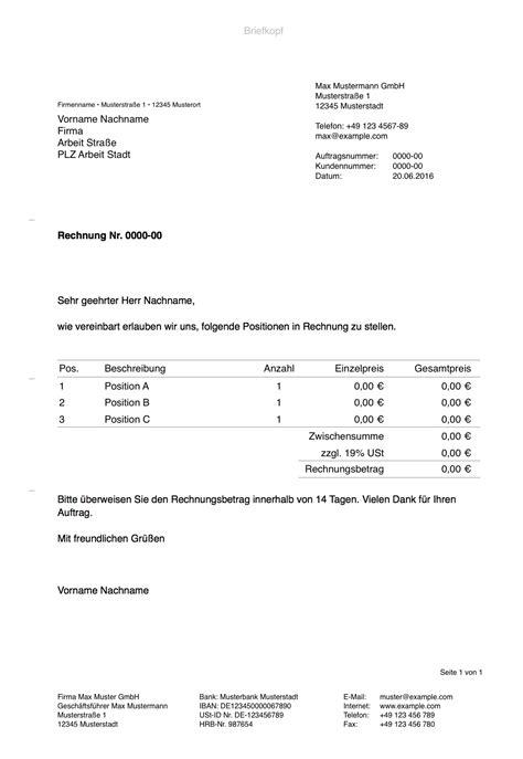 Musterrechnung Handwerkerrechnung Pages Vorlage Rechnung Numbersvorlagen De