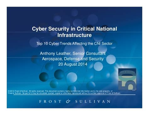 8 cyber infrastructure protection viii books cyber security in critical national infrastructure