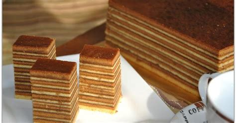 Gula Sirup Simple By H O W Kitchen kek lapis kopi coffee layer cake resepi kung melayu