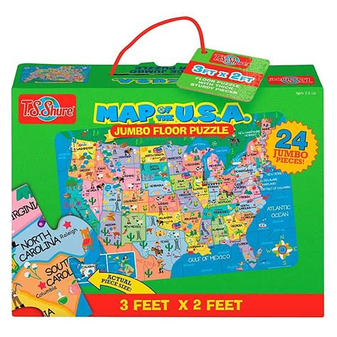 map  pc giant floor puzzle educational toys planet
