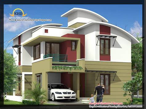 contemporary kerala style house plans 2035 sq ft 4 bedroom contemporary villa elevation and plan kerala home design and