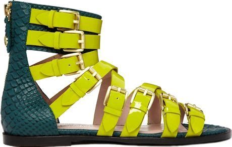 Gladiator Suede Black Ksb1009bl 091 sandals lime green sandals