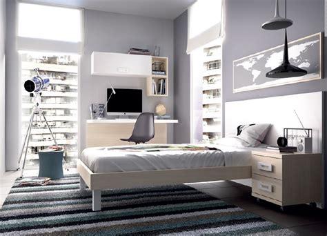 camera moderna giovane   mobili  ragazzi letto
