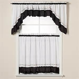 black swag valance buy window curtain swag valance in black from bed