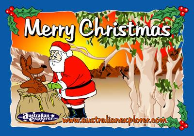 Outback E Gift Card - christmas outback setting with santa virtual postcard christmas outback setting with