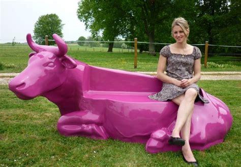 vache resine quot osez la couleur quot animaux et statues en r 233 sine de nlc d 233 co