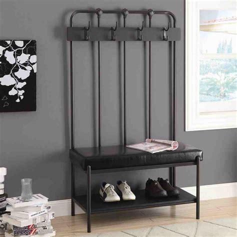 entryway storage bench  hooks home furniture design