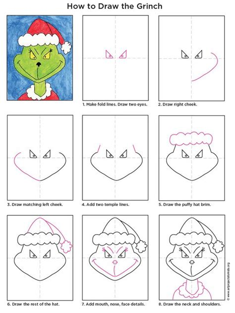 how to draw pdf grinch how to draw and to draw on