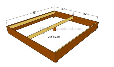 king size bed frame plans king size bed frame plans howtospecialist how to build