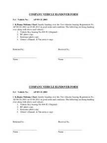 Car Rental Handover Form Company Vehicle Handover Form