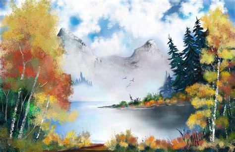panting at digital painting software corel painter 2018