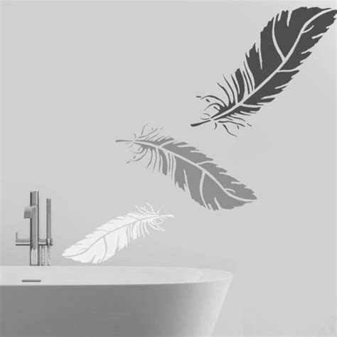 dekor schablone feather stencil wall stencil home wall d 233 cor by