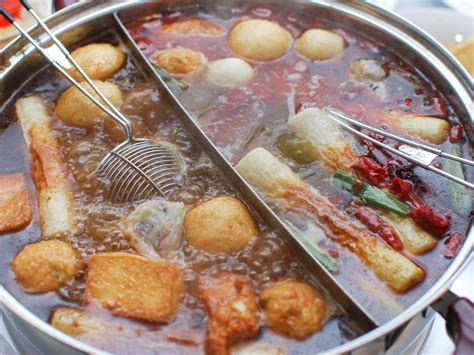 steamboat chinese chinese style hot pot with rich broth shrimp balls and