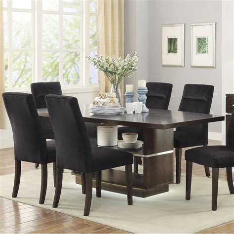 dining table led lights coaster lincoln 106891 contemporary dining table with led
