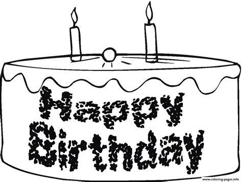 happy birthday cake e38d coloring pages printable