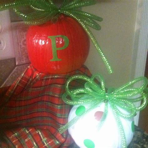 christmas pumpkins christmas decor ideas pinterest