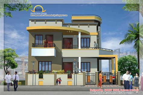Duplex House | duplex house elevation indian home decor