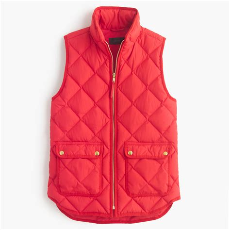 Quilted Vest j crew excursion quilted vest lyst