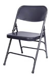 Metal folding chair blue color