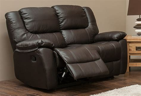harveys recliner sofas harvey reclining 2 seater leather sofa espresso brown