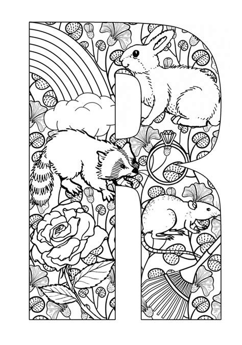 Letter R Coloring Pages Az Coloring Pages The Letter R Coloring Pages