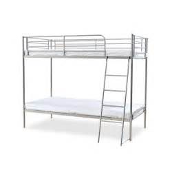 metal bunk bed torquay silver metal bunk bed single inc 2 x mattress deal