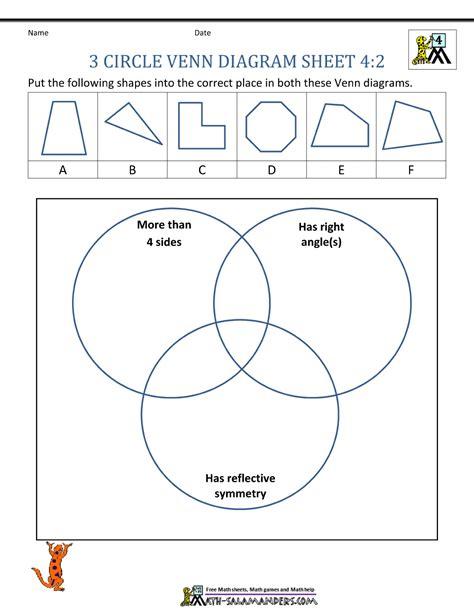 3 circles venn diagram 3 circle venn diagram worksheets