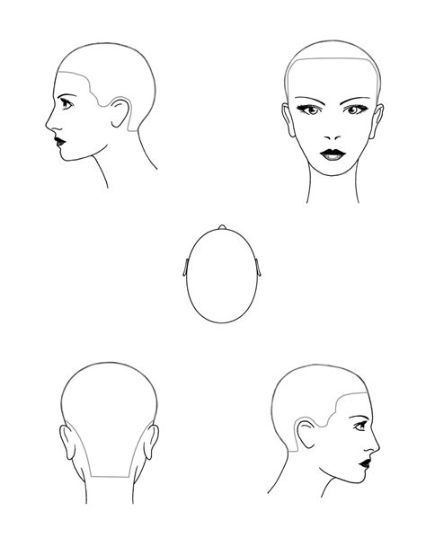 forward head shape coloring pages