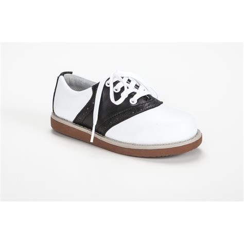 black and white oxford shoe