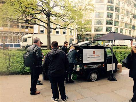 mobile reuters mobile coffee cart hire thomson reuters cafe santiago