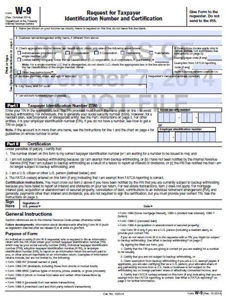irs i 9 form 2012 printable w 9 form 2012 in word doent