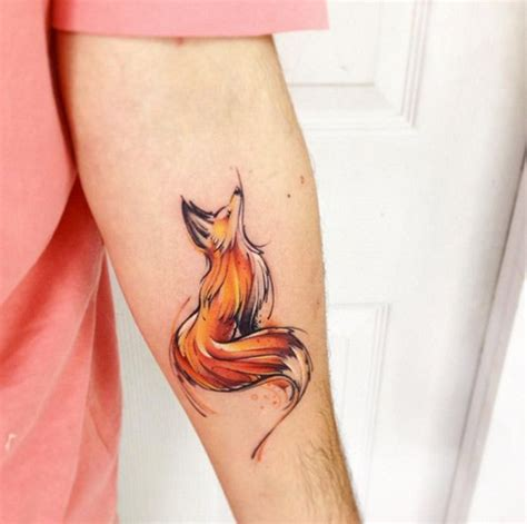 watercolor tattoos pros and cons best 25 watercolor fox ideas on fox