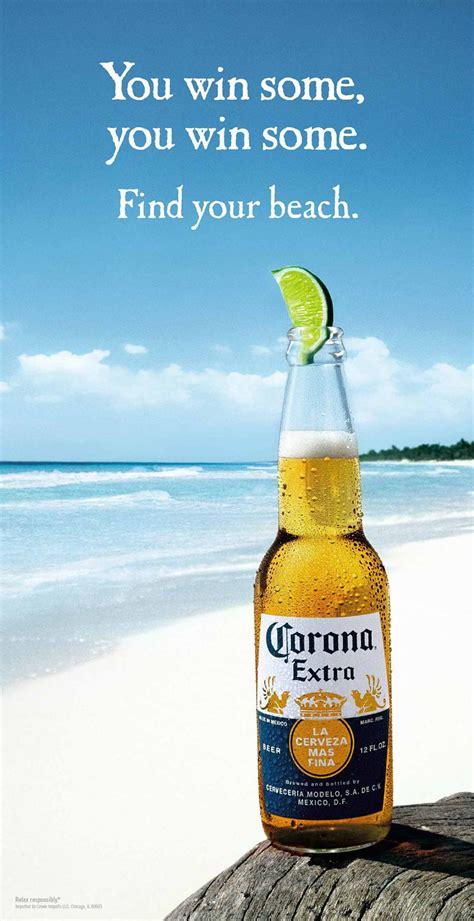 corona extra win  corona ad print  love