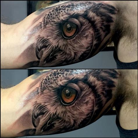 Owl Inner Arm By Chad Miskimon Tattoonow Barn Owl On Arm