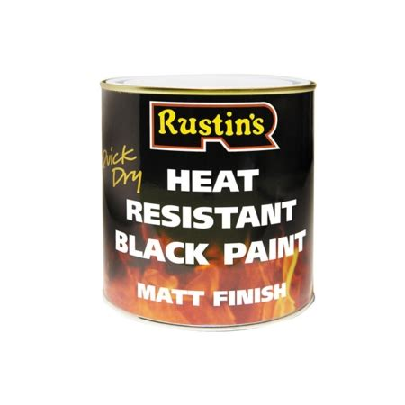 acrylic paint heat resistant rustins heat resistant black 250 ml tools warehouse co