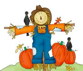 Scarecrow and pumpkin patch clip