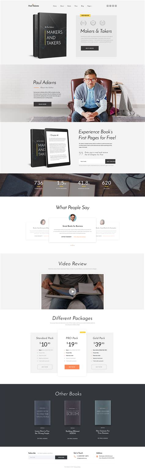Writer Website Template Free Website Templates For Writers