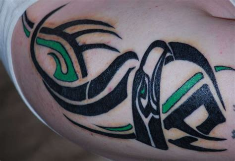 tribal seahawk tattoo