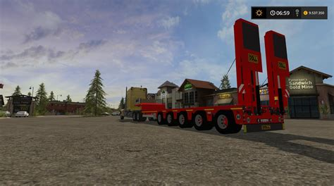 black doll trailer doll panther trailer v1 1 fs17 farming simulator 17 mod