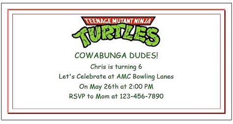 free printable birthday invitations ninja turtles teenage mutant ninja turtle party ideas with invitations