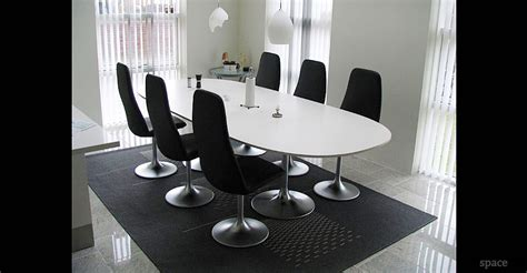 Large White Meeting Table Meeting Tables Venus Oval Table D Shaped