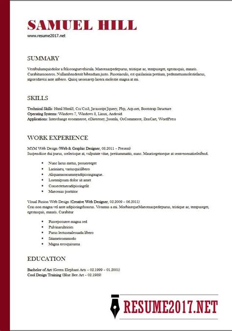 simple resume templates 2018 basic resume sles 2018 gentileforda
