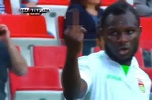 Ufa midfielder emmanuel frimpong has been handed a two game ban by the