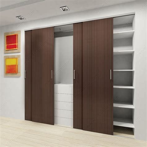 Closet Door Runners Cd 40 Cx Bypassing Bottom Running Sliding System For Closet Doors Richelieu Hardware