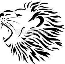 tato hitam putih terbaik motif tato singa hitam putih