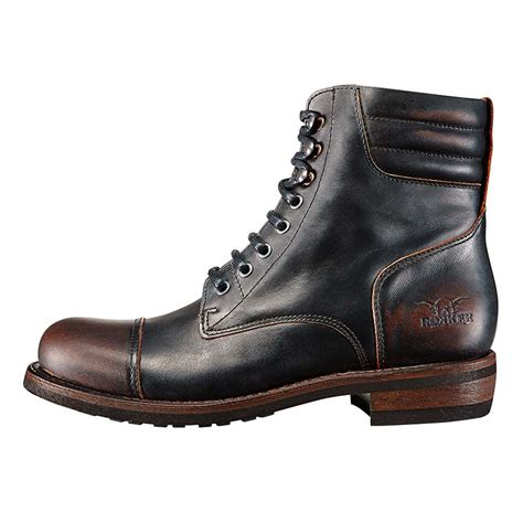 motorcycle footwear rokker racer boots antique black motorcycle