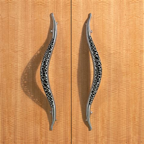 Stainless Steel Door Knobs and Pulls by Martin Pierce   new Morphic luxury organic hardware designs