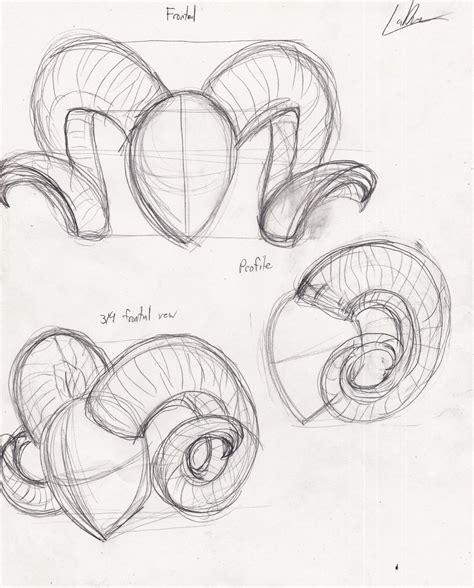 line art portrait tutorial how to draw ram horns google search draw pinterest