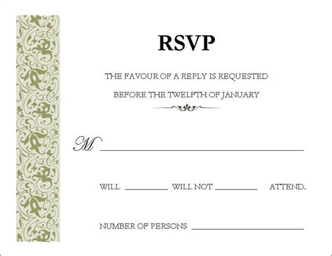 Letter Response Etiquette In A World Rsvp