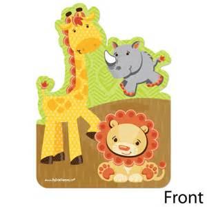 funfari safari jungle shaped baby shower invitations